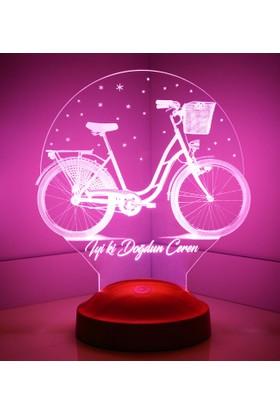 Sevgi Lambası Kişiye Özel Nostaljik Bisiklet 3 Boyutlu LED Foto Lamba