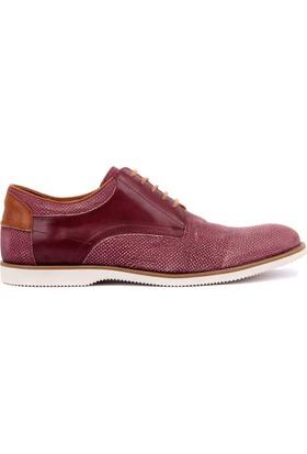 Sail Laker's - Bordo Deri Bağcıklı Erkek Günlük Ayakkabı