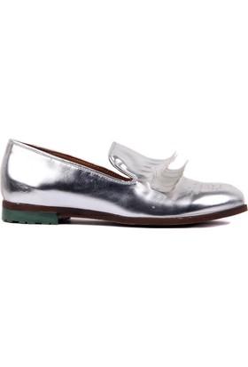 Moxee Gümüş Renk Kadın Günlük Ayakkabı