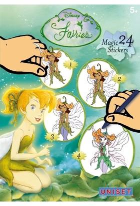 Uniset Sihirli Çıkartma Birleştir - Çiz - Boya - Disney Fairies