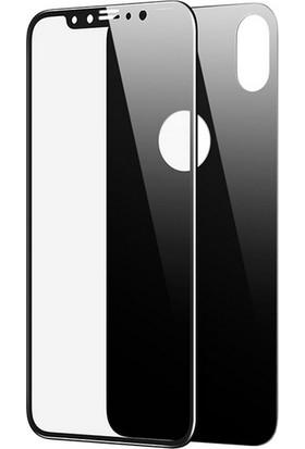 Smody iPhone XS 5D Ön Arka Tam Ekran Cam Koruyucu Siyah