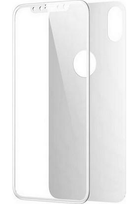 Smody iPhone XS 5D Ön Arka Tam Ekran Cam Koruyucu Beyaz