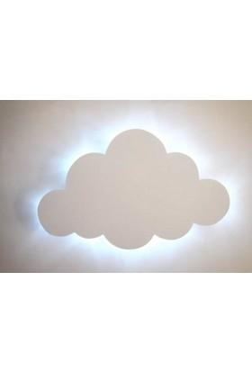 Dlrstyle Ahşap Işıklı Bulut Beyaz Işık