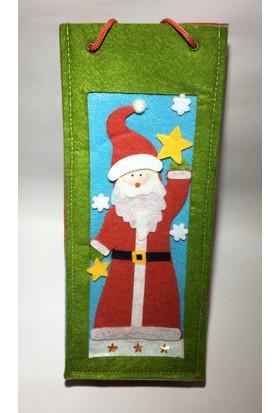 Sepet Diyarı Keçe Çanta Noel Babalı