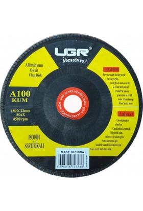 Ugr Alüminyum Oksit Flap Disk Zımpara 100 Kum 180 Mm
