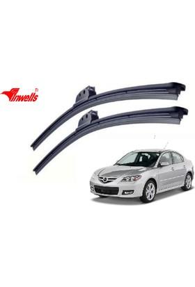 Inwells Mazda 3 Sedan, 2004 - 2008 / Silecek, Muz Tipi, Takım, 530mm-480mm