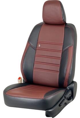 Otom Seat Exeo 2009-2011 California Design Araca Özel Deri Koltuk Kılıfı Bordo-110