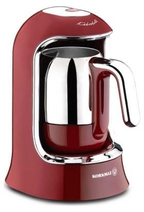 Korkmaz A860-03 Kahvekolik Otomatik Kahve Makinesi-Kırmızı