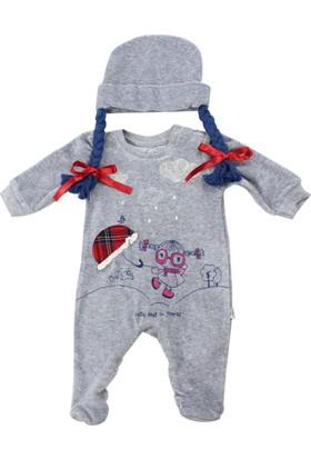 Tongs Baby Kadife Bebek Tulumu 2050