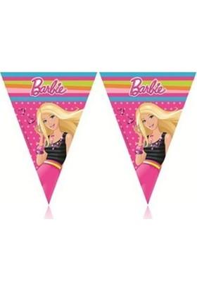 Partici Barbie Üçgen Bayrak Flama
