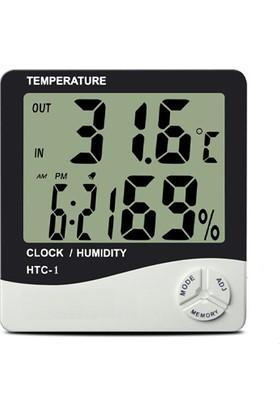 Pi İthalat Masaüstü Dijital Termometre Nem Ölçer Saat
