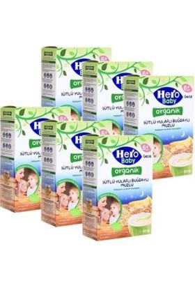 Hero Baby Organik Sütlü Buğday Yulaf Muzlu 200 Gr - 6'lı Set
