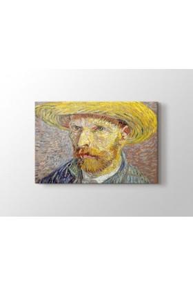 Tablo Kanvas Vincent van Gogh - Self Portrait with Straw Hat 1887 Metropolitan Tablo