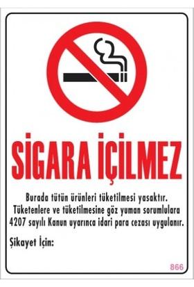 Sönsan Uyarı Levhaları ''Sigara İçilmez'' Pvc 25*35