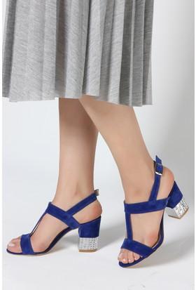 Rovigo Plus Kadın Mavi Süet Ayakkabı