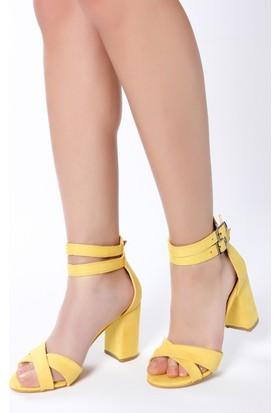 Rovigo Plus Kadın Sarı Süet Ayakkabı