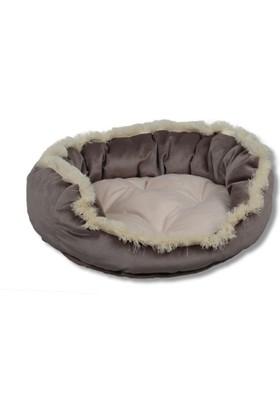 Tulyano Püsküllü Kedi Köpek Yatağı