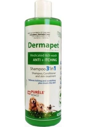 Purele Dermapet Kedi Köpek Şampuanı 3İn1 Plus 450 Ml