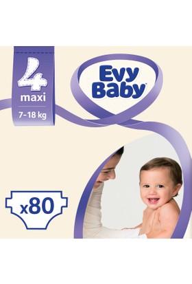Evy Baby Bebek Bezi Maxi 4 Beden Jumbo Ekonomik Aylık Paket 90 Adet