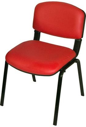 Coşkun Büro/24 Kırmızı-Deri Form Sandalye