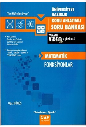 Çap Üniv. Haz Matematik Fonksiyonlar Konu Anlatımlı Soru Bankası2019
