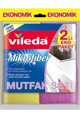 Vileda 2'li Mikrofiber Mutfak Bezi 2 Paket