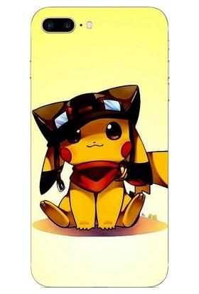 GoGo Apple iPhone 8 Plus Şapkalı Pikachu Desenli Kılıf