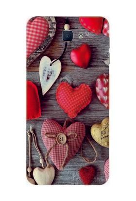 GoGo Samsung Galaxy J7 Prime Kalp Baskılı Silikon Kılıf