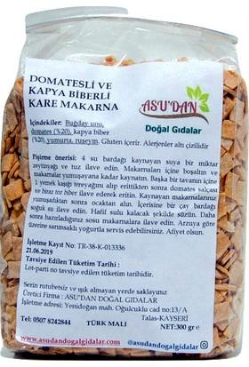 Asudan Doğal Gıdalar Domatesli Kare Makarna 300gr