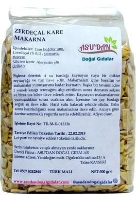 Asudan Doğal Gıdalar Zerdeçallı Kare Makarna300gr