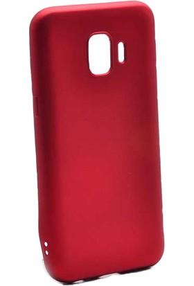 Case 4U Samsung Galaxy J2 Core Kılıf Mat Silikon Arka Kapak - Premier - Kırmızı