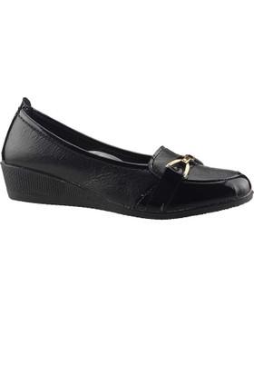 Bulgan 575 Siyah Günlük Yürüyüş Anne Klasik Ayakkabı