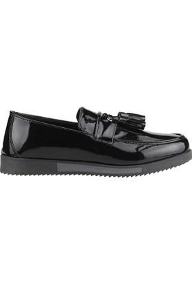 Carrano 2016 Siyah Günlük Fiyonklu Erkek Çocuk Rugan Klasik Ayakkabı