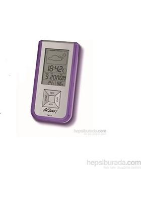Arzum AR714 Tikky Lcd Ekranlı Çalar Saat/Nem Ölçer-Mor