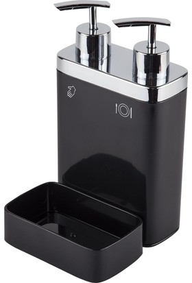 Primanova Viva 2Li Sıvı Sabunluk Süngerli Siyah M-E10-06