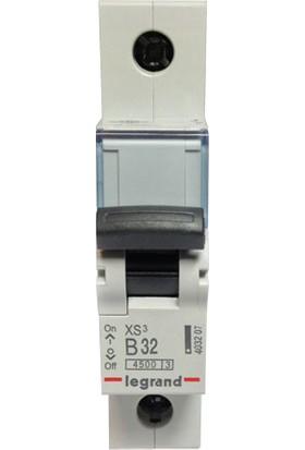 Legrand Xs³ Serisi Otomatik Sigorta 4.5Ka 32A 1Kutup B Tipi