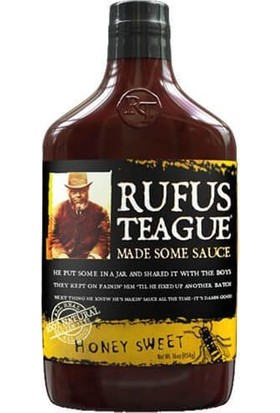Rufus Teague Honey Sweet Barbekü Sos, 454 gr