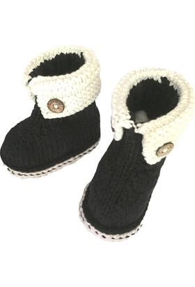 Pacco Baby Siyah Düğmeli Bootie