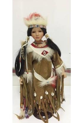 Gepettoys Porselen Bebek Kızıl Dereli Kız 45 Cm Kızıldereli Kız