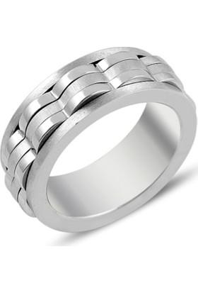 Silverella Çelik Anti-Stres Erkek Yüzüğü
