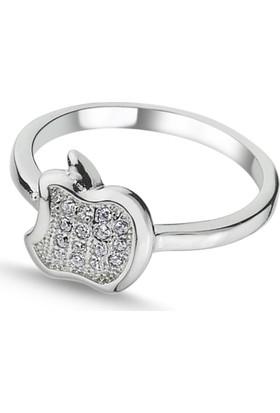 Silverella Gümüş Zirkon Taşlı Elma Çocuk Yüzüğü-Eklem Yüzüğü