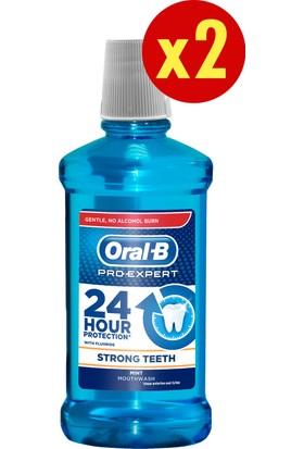 Oral-B Pro-Expert Ağız Çalkalama Suyu Güçlü Dişler 500 ml (Alkolsüz) x 2