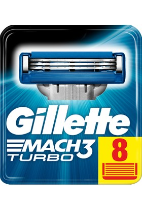 Gillette Mach 3 Turbo Yedek Tıraş Bıçağı 8'li Karton Paket