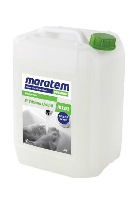 Maratem M101 Sıvı El Sabunu Beyaz Sedefli 20lt