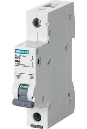 Siemens 5Sl6102-7 - 1X2A C Tipi 6Ka Otomatik Sigorta - 70Mm