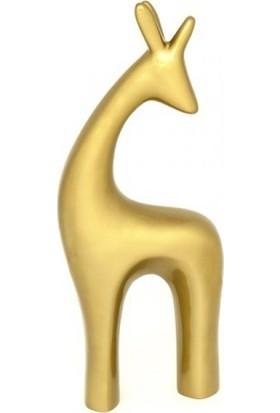 Greenmall Altın Dekoratif Geyik ( Orta Boy )