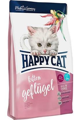 Happy Cat Kitten Geflügel 2-6 Aylık Yavru Kediler İçin Tavuklu Mama 4 kg