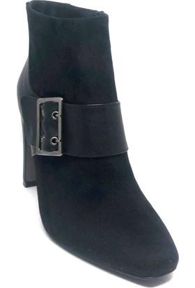 Shop And Shoes 219-391K Bayan Bot Siyah Süet