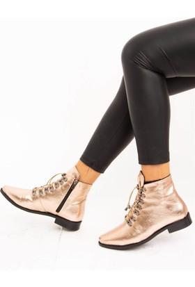 Fox Shoes Bronz Suni Deri Kadın Bot E432300409