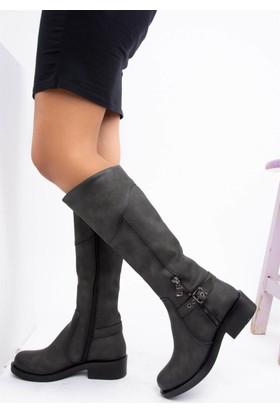 Fox Shoes Gri Kadın Çizme C674270109